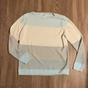 Wide Stripe Soft Sweater
